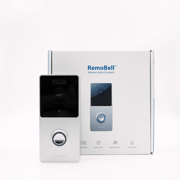 RemoBell Silver Wireless Wi-Fi Video Doorbell - Remo+ video doorbell camera doorcam smart home security