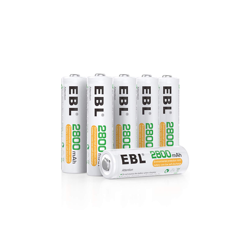 Rechargeable AA Batteries (6-pack) - Remo+