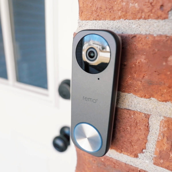 RemoBell S Video Doorbell on Brick House