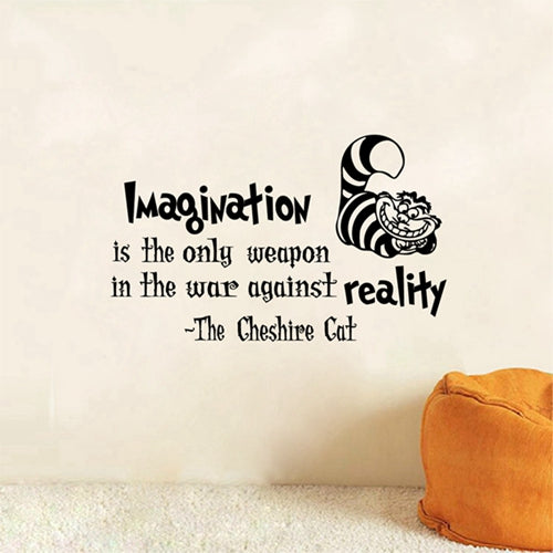 3D stickers, 3D Decals, Cheshire Cat, Quotes, Kids, Bedroom, Bathroom, Living Room, Kitchen, home decoration, home decor