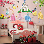 Wall Stickers kids room Decor Sticker decor Cinderella children cartoon 3D Stickers