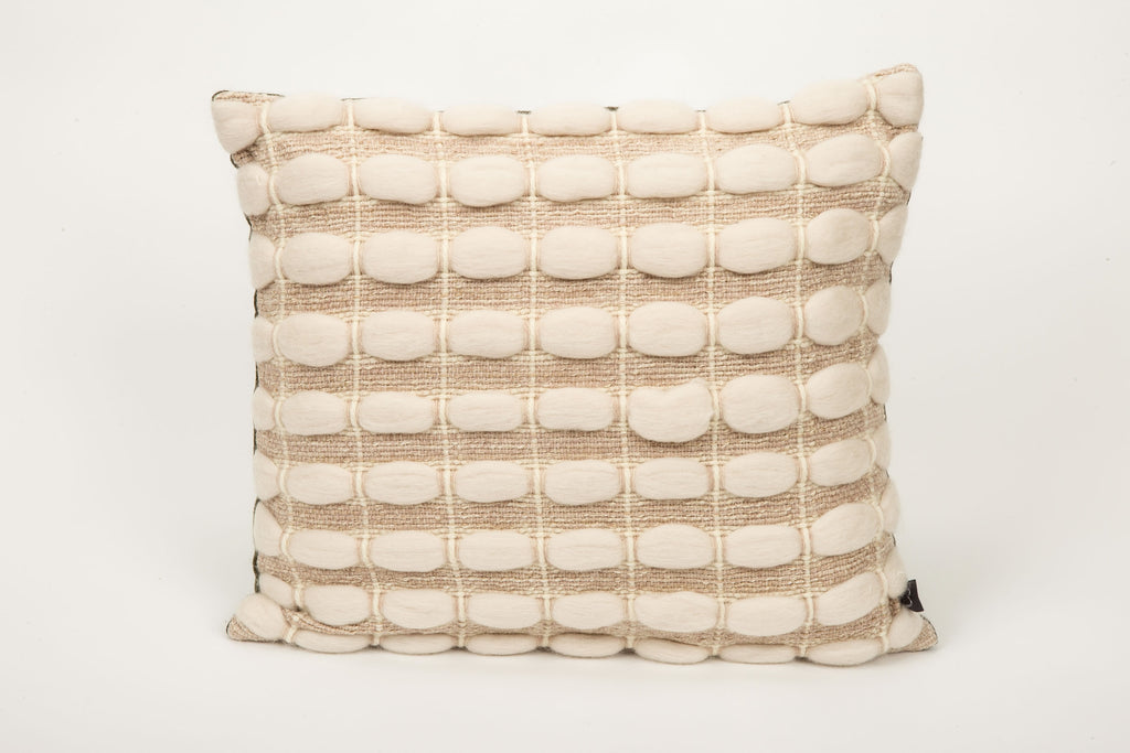 "Brittany Cushion (Square - Medium) | ""Pebbles"" 