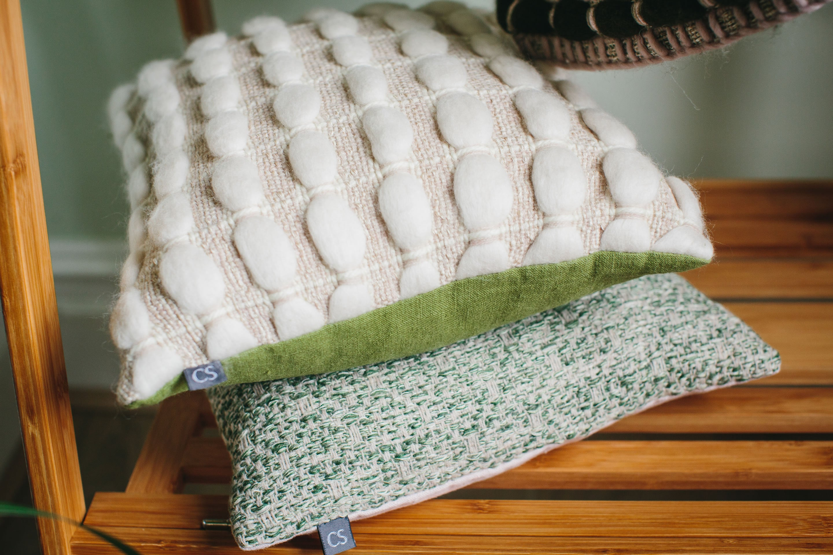 "Brittany Cushion (Square - Small) | ""Waves"" 