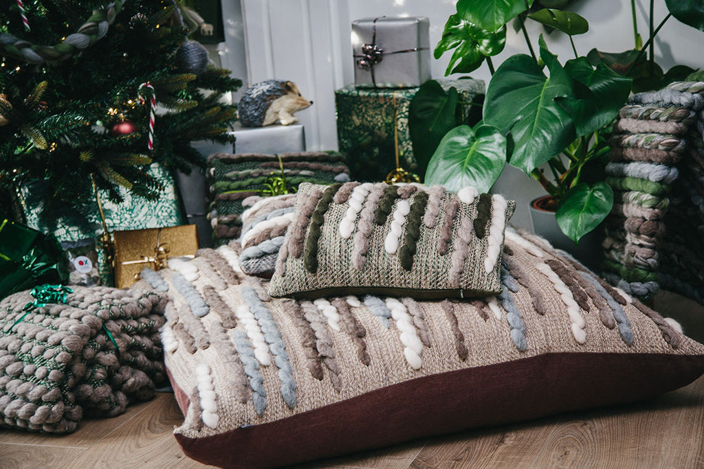 Forest Collection: 'Caterpillar' Floor Cushion