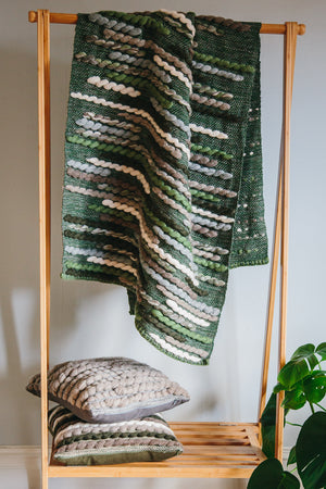 Forest Collection: 'Caterpillar' Throw