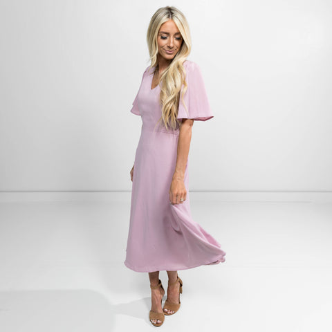 Juno Tie Dress in Blush