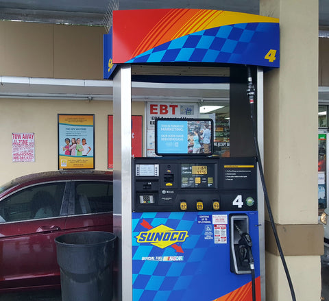 gas pump top ads