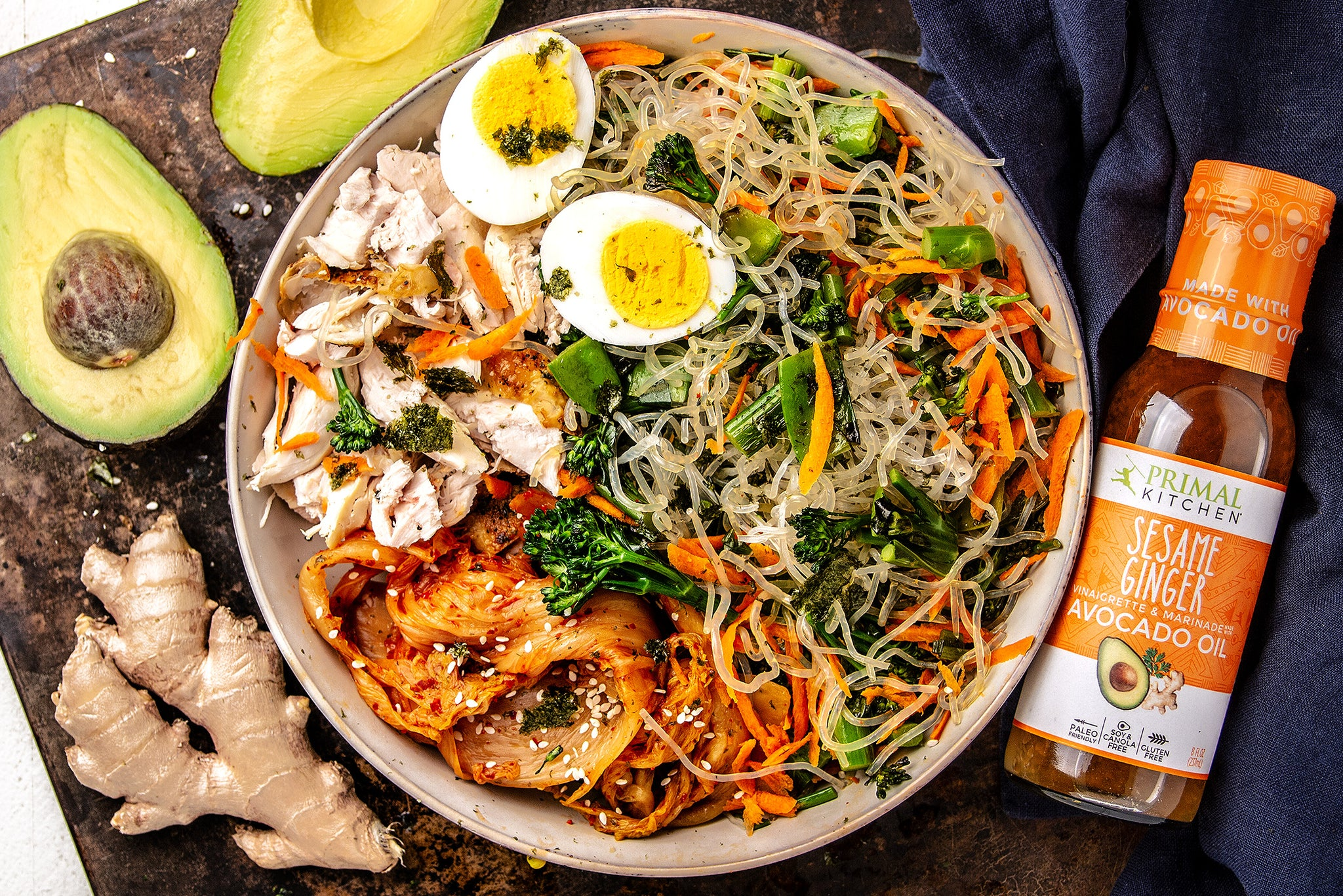 Low Carb Asian Noodle Bowl With Chicken Primal Kitchen