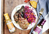 Honey Mustard Pork Chops and Balsamic-Braised Red Cabbage