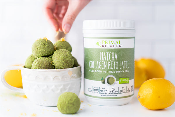 Matcha Balls with Lemon