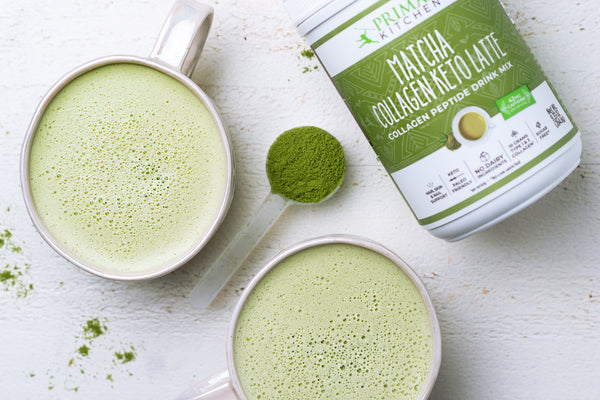 2 Ingredient Matcha Keto Latte with Collagen