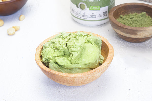 Matcha Ice Cream (No Dairy) with Recipe Video