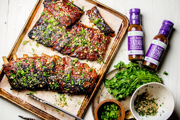 Sticky Ribs with Teriyaki Sauce