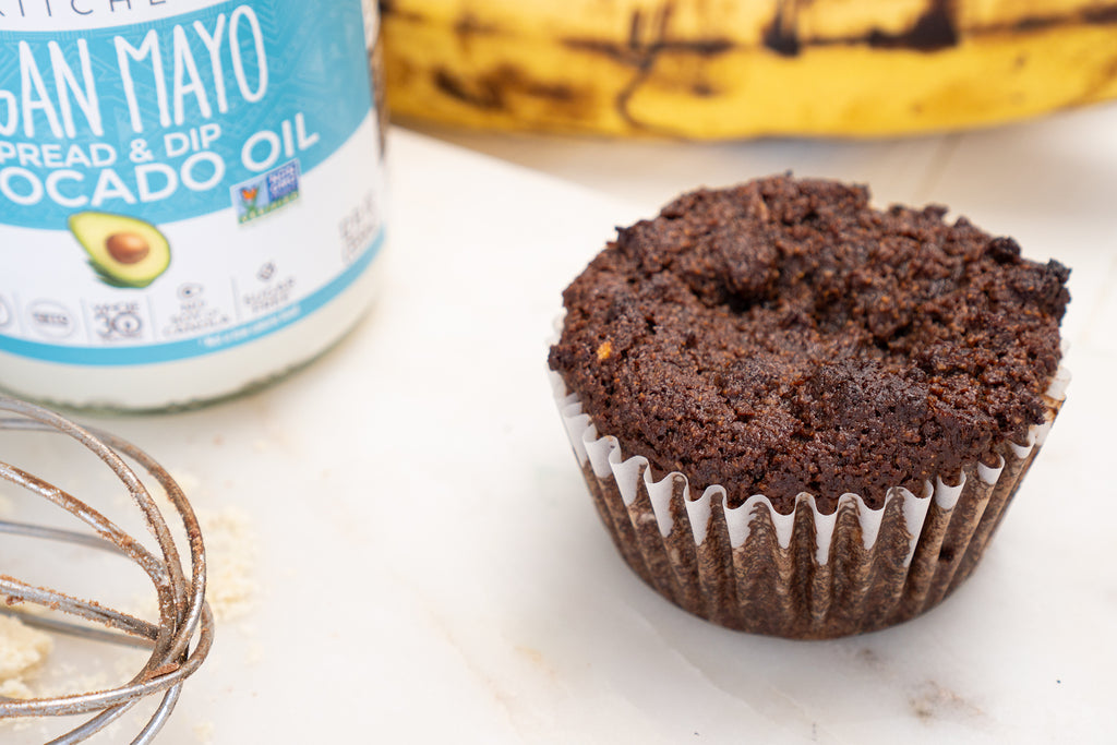 Vegan Banana Chocolate Muffins