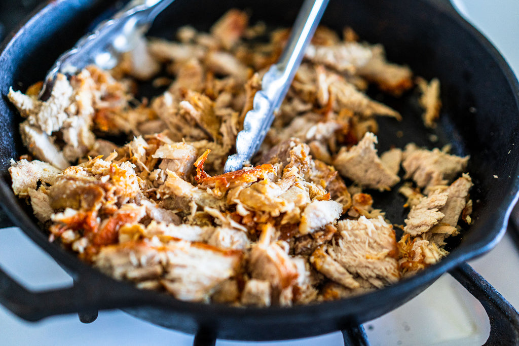 Instant Pot Pork Carnitas with Avocado Crema