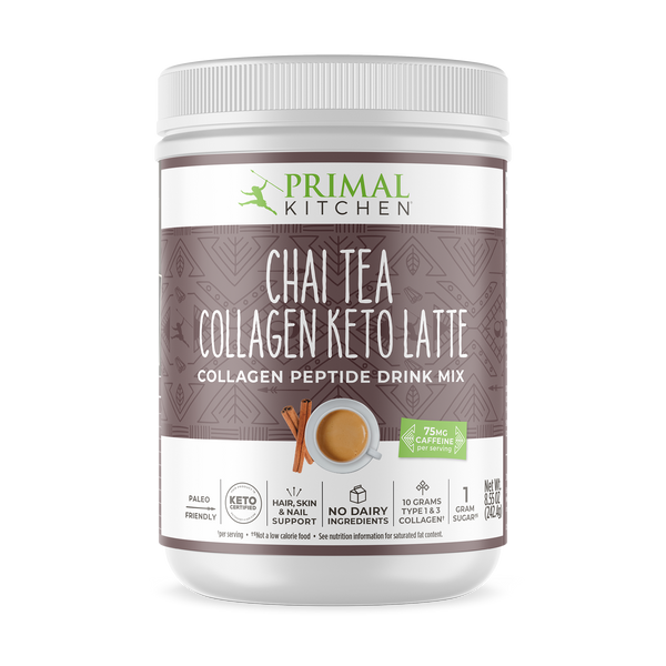 What's Inside Chai‌ ‌Tea‌ ‌Collagen‌ ‌Keto‌ ‌Latte‌ Drink Mix - 8.5 oz