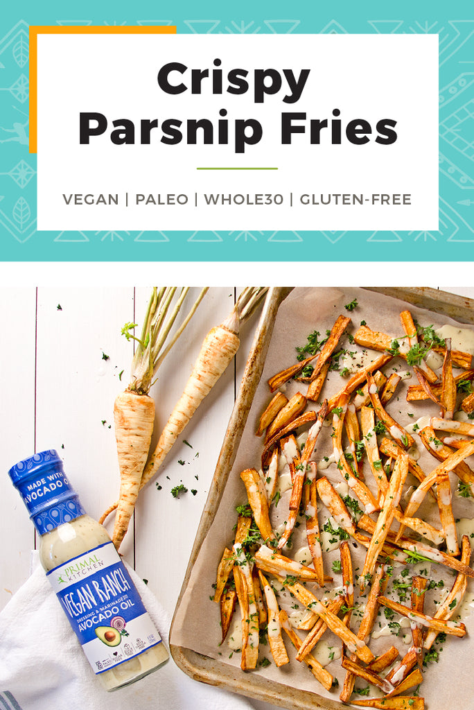 Whole30 Vegan Parsnip Fries