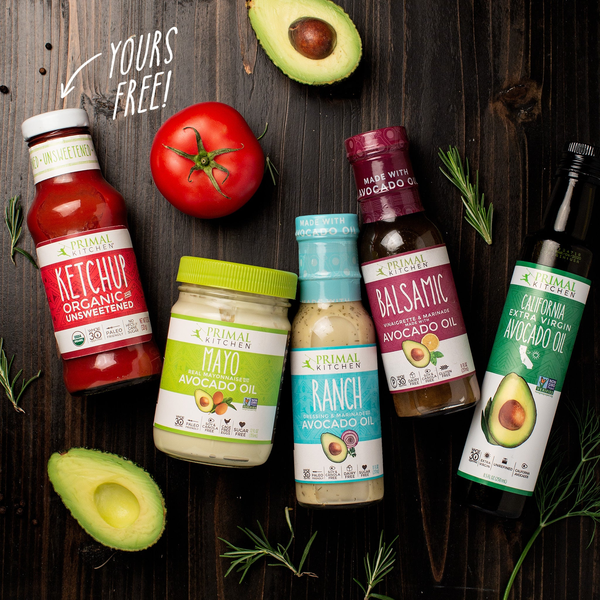 Sauces, Dressings, Toppings and Extra Virgin Avocado Oil