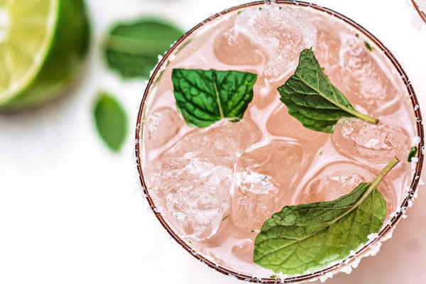 Lower Carb Tropical Collagen Mojito