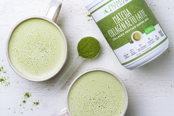 2 Ingredient Matcha Collagen Keto Latte