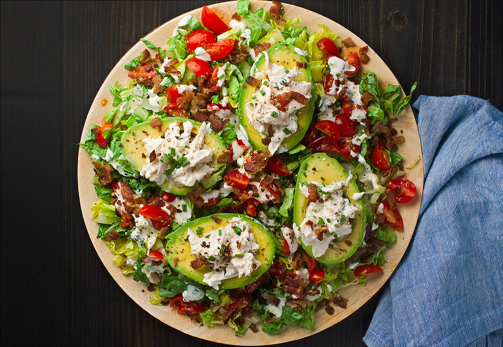BLT Chicken Salad-Stuffed Avocados
