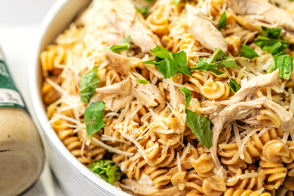 Gluten-Free Rotini with Chicken and Roasted Garlic Alfredo Sauce