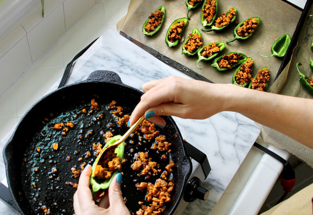 Spicy Chorizo Stuffed Jalapenos