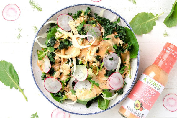 Kale and Radish Salad with Thousand Island Recipe