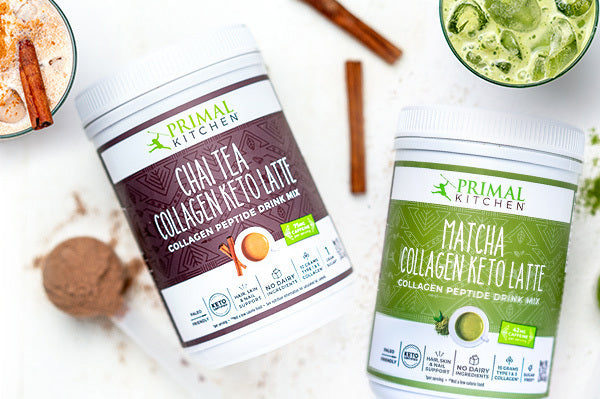 An incredible offer to buy 1 Primal Kitchen Collagen Keto Latte Drink Mix, get 1 FREE. With your purchase, you'll also get a FREE 30-day keto meal plan, shopping list, and exercise plan. PLUS you'll get access to an exclusive keto webinar with Mark. <b>NOTES:</b> You must purchase a canister of Primal Kitchen Collagen Keto Latte Drink Mix to participate in Keto Month. Once you purchase this offer, you will be signed up automatically for Keto Month. Free shipping only on domestic U.S. orders.