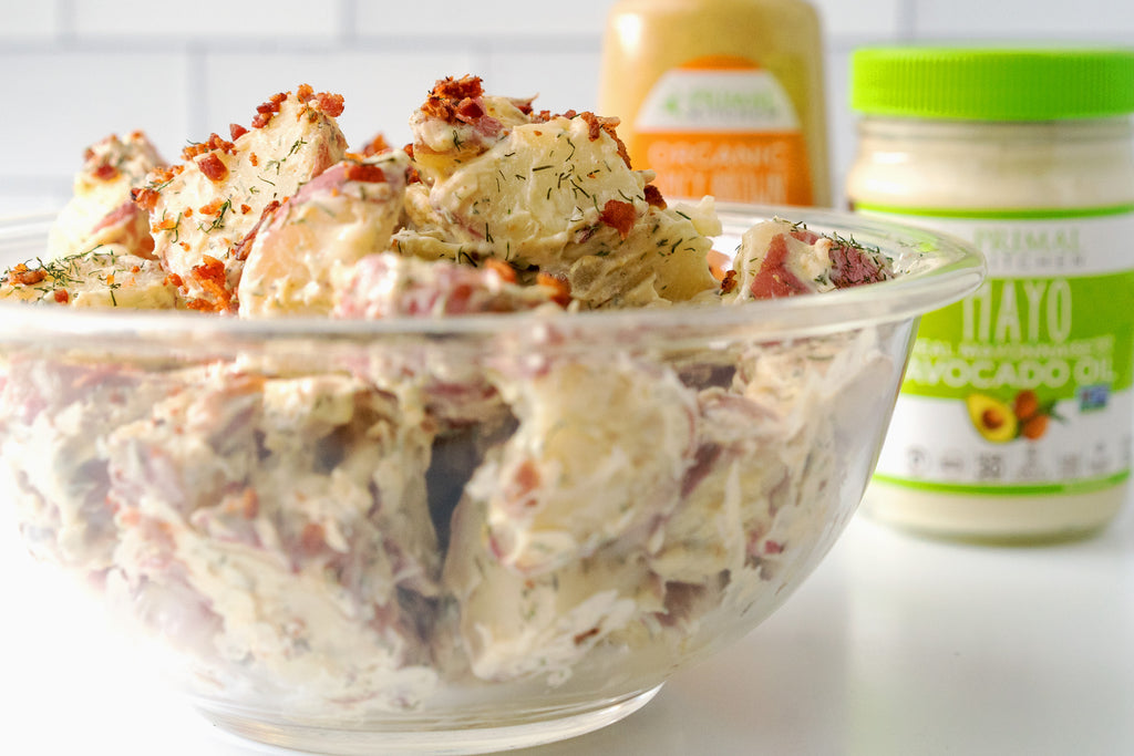Classic American Potato Salad with Bacon