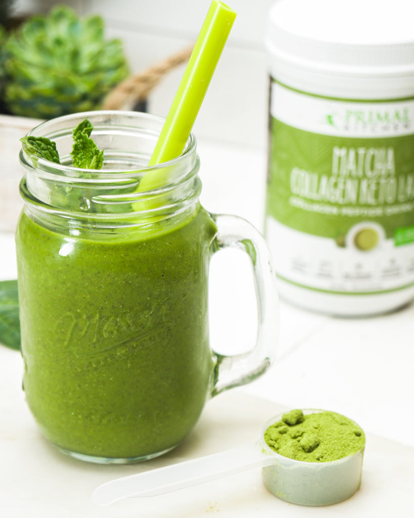 Matcha Mint Keto Green Smoothie