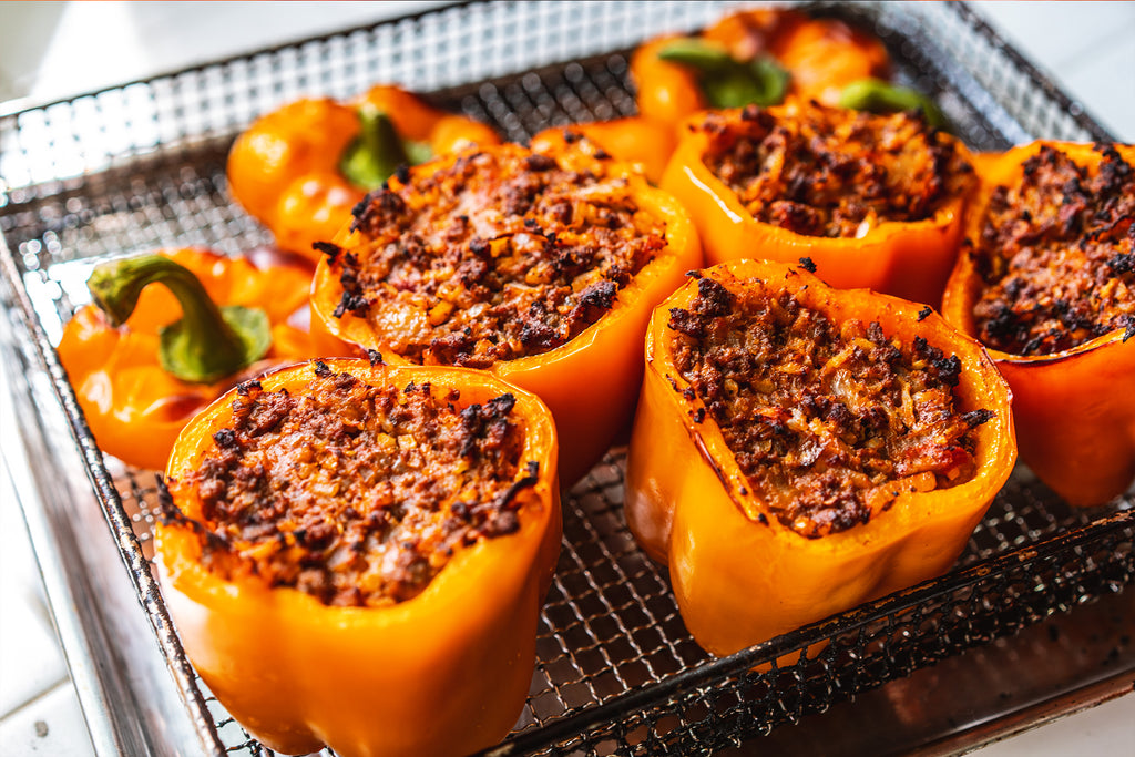 Lower Carb Stuffed Bell Peppers