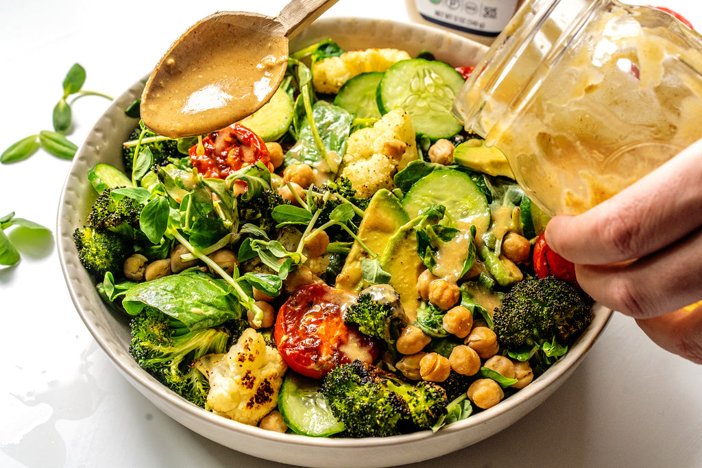 Vegan Chickpea Salad with Dijon Vinaigrette