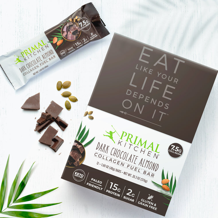 Dark Chocolate Almond Collagen Fuel Bar
