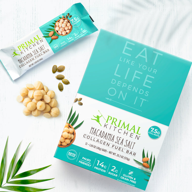Macadamia Sea Salt Collagen Fuel Bars