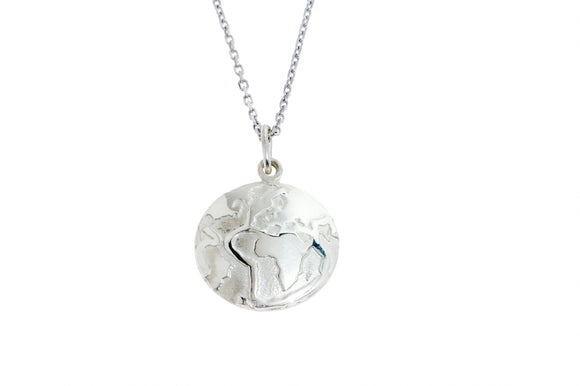 World Pendant Silver