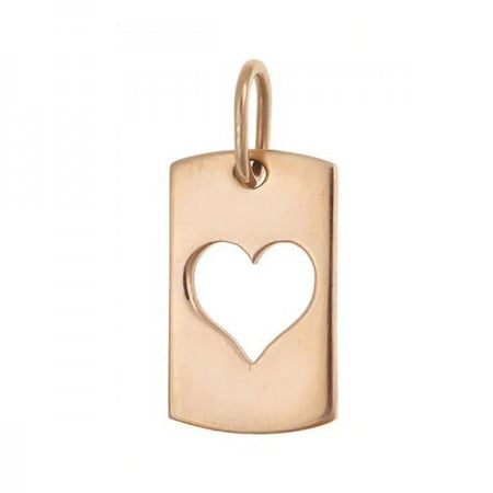 Open Heart Dog Tag