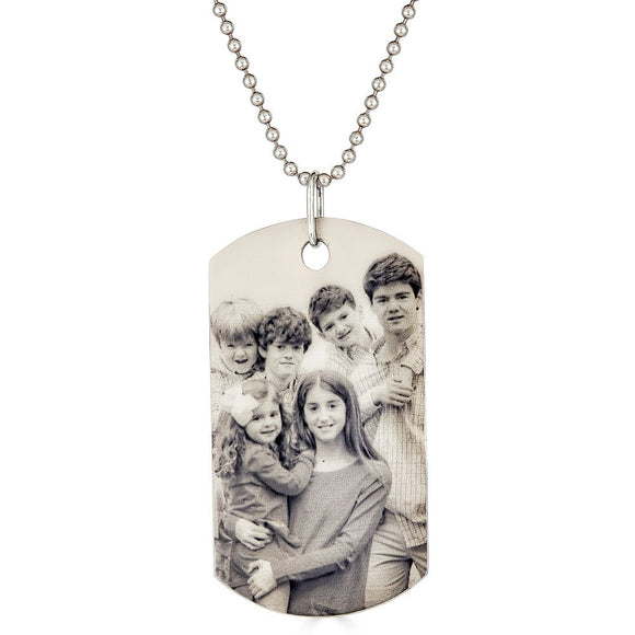 Military Photo Dog Tag