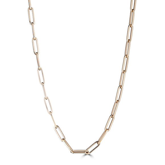 Gold Large Paperclip Link Chain
