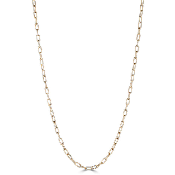 Gold Paperclip Link Chain