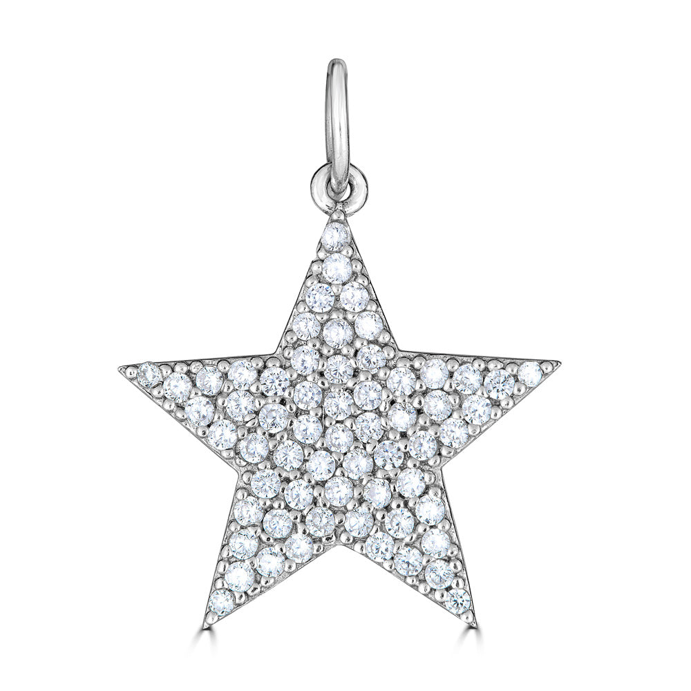 Star Charm Pave Diamond