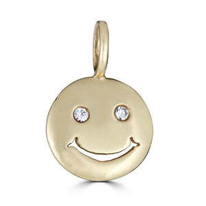 Small Smiley Face Charm