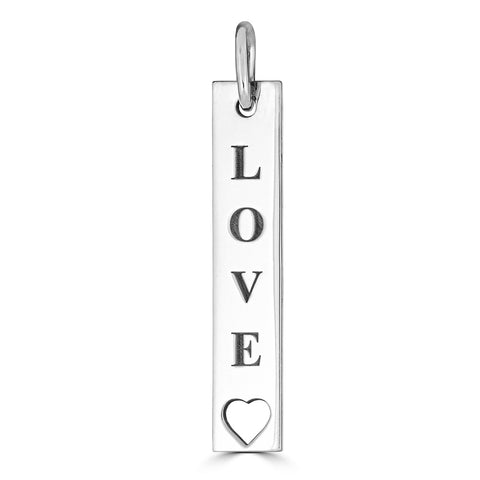 LOVE WITH AN OPEN HEART TAG