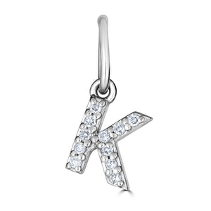 Mini Diamond Letter Charms