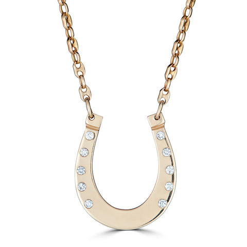 Horseshoe with Diamond Necklace