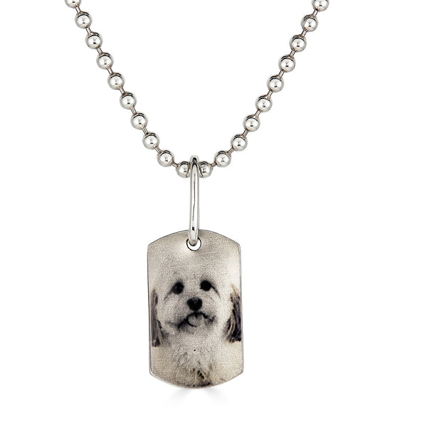 Small Photo Dog Tag