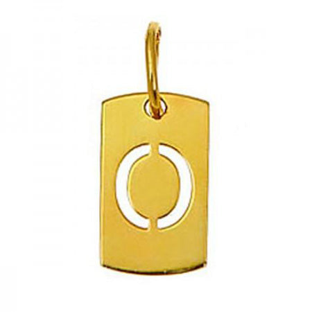 Gold Plated Initial Dog Tag