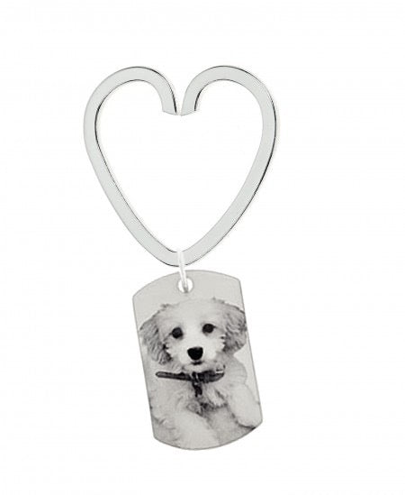 Heart Key Ring Photo Tag