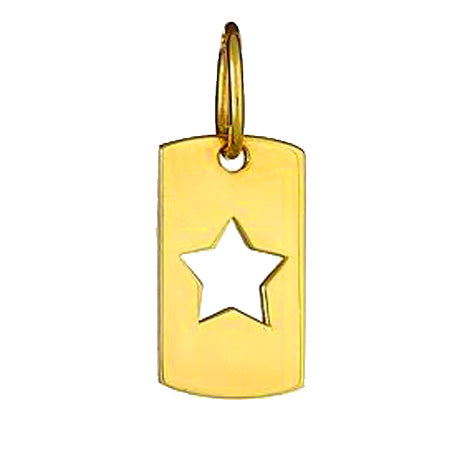 Open Star Dog Tag