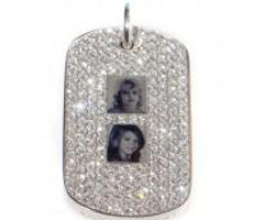 Military Diamond Custom Dog Tag
